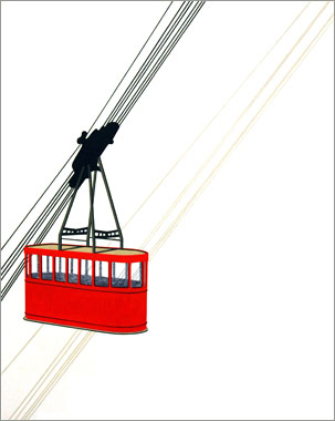 William Steiger : Red Cable Car