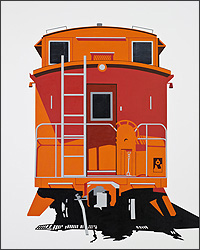 William Steiger: Caboose End View